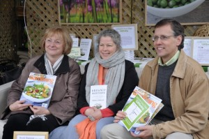Sunday in the rain at the NYC Grows festival with Ethne Clarke, editor-in-chief of Organic Gardening magazine, and Doug Hall, senior editor.