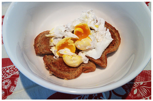 Poached Eggs on Buttered Toast | Maria's Farm Country Kitchen