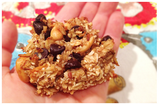 Banana-Peanut-Chocolate-Coconut Super Cookie!