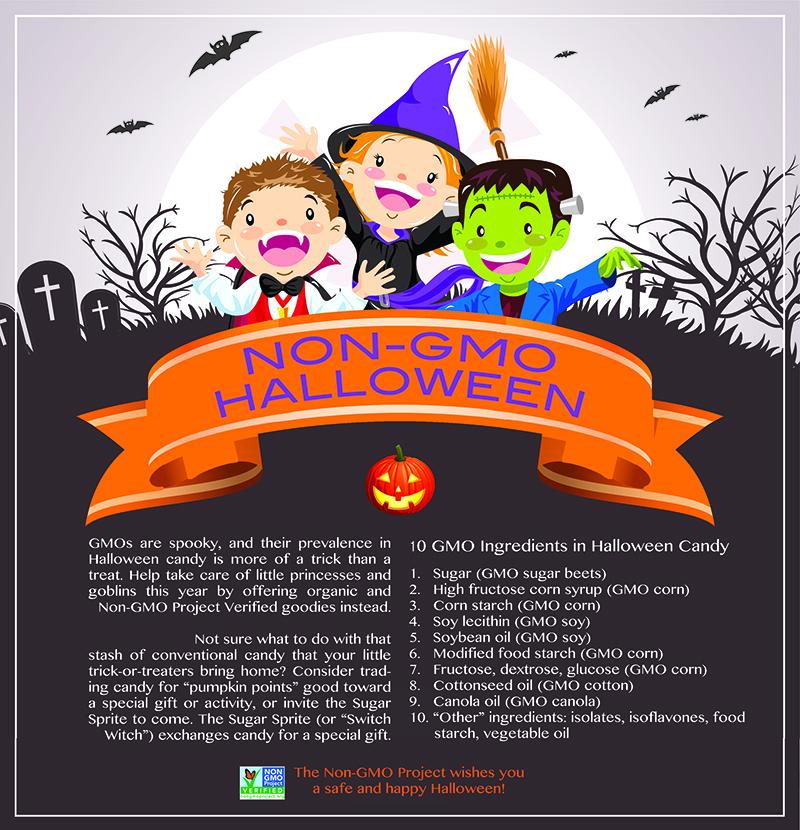Non-GMO alternatives for an organic Halloween.