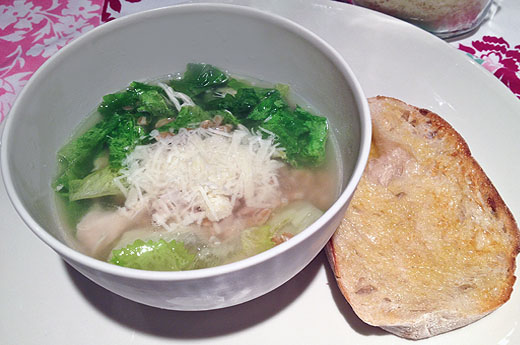 Escarole, Farro, and Chicken Soup