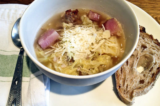 Sausage, Potato, and Cabbage Soup