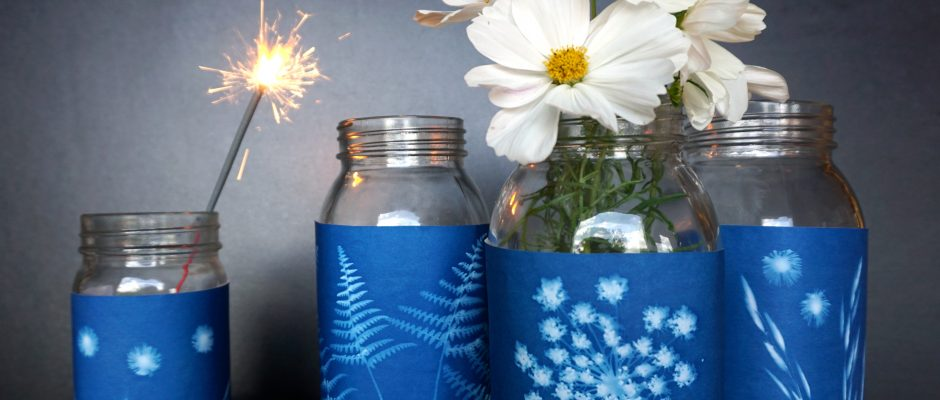 Fourth of July Craft: Sunprint Fireworks Jars