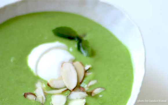 Frozen Pea Summer Soup | Maria's Farm Country Kitchen