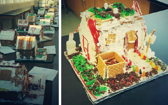 A few of the gingerbread LEED houses.