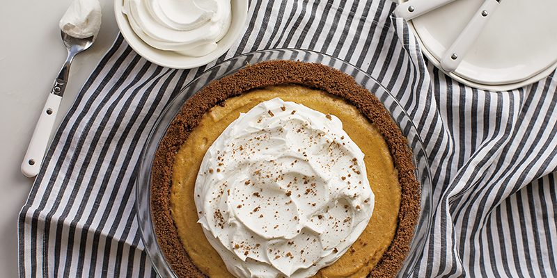 No-Bake Pumpkin Chiffon Pie