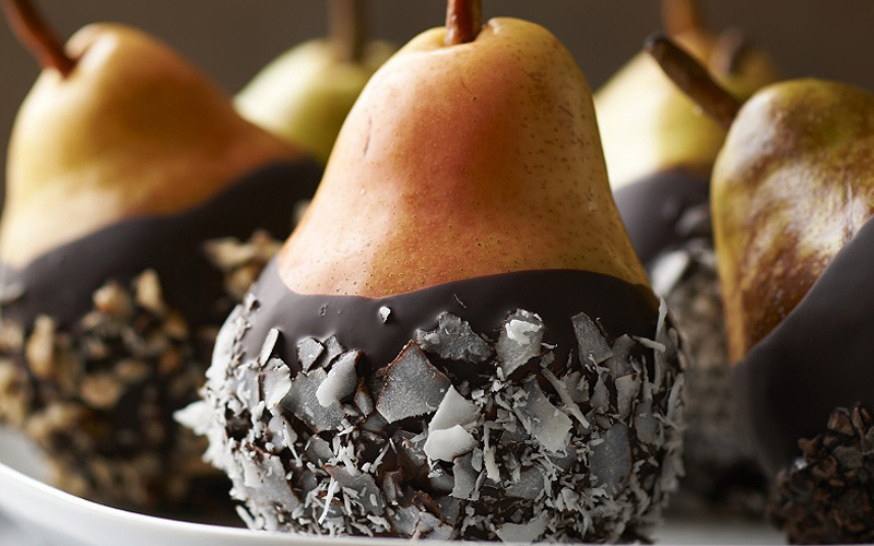 Chocolate Dipped Pears Recipe