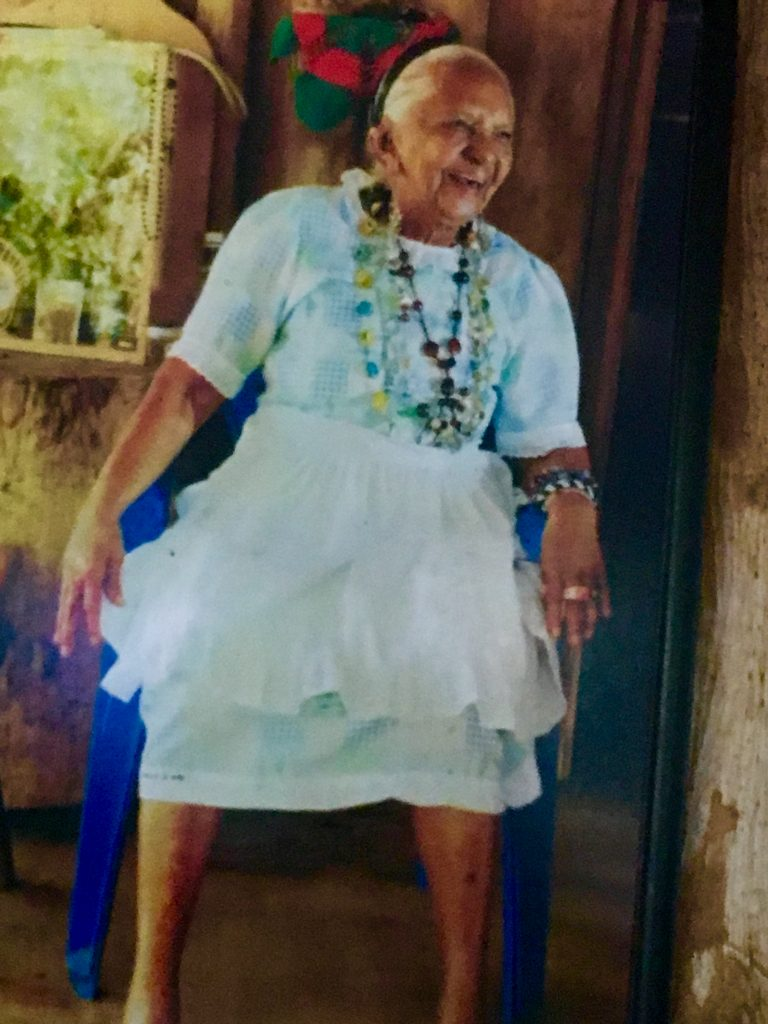 Panchita at the age of 105.