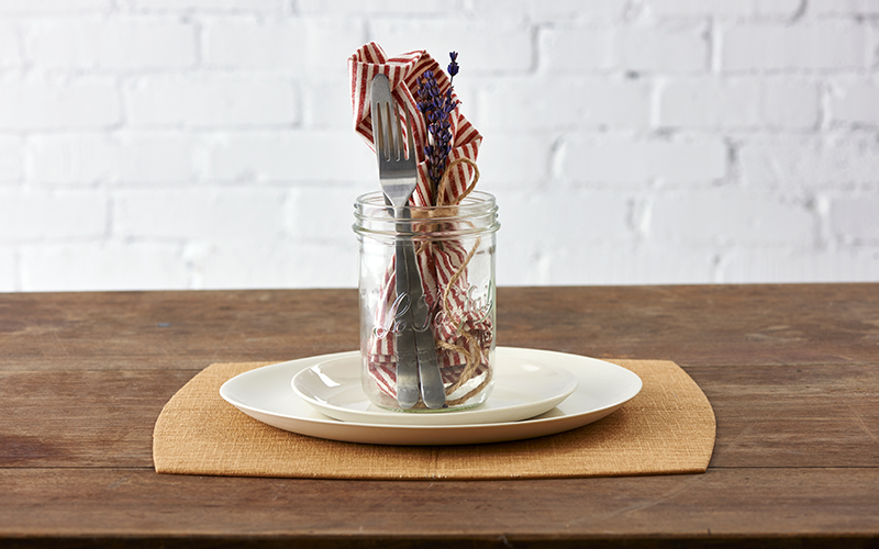 Mason Jar Place Setting
