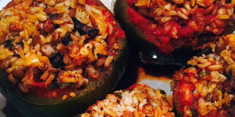 The Art of Becoming Vegetarian: Meatless Stuffed Peppers