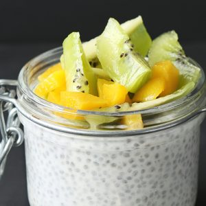 Mango & Kiwi Chia Seed Pudding Parfait