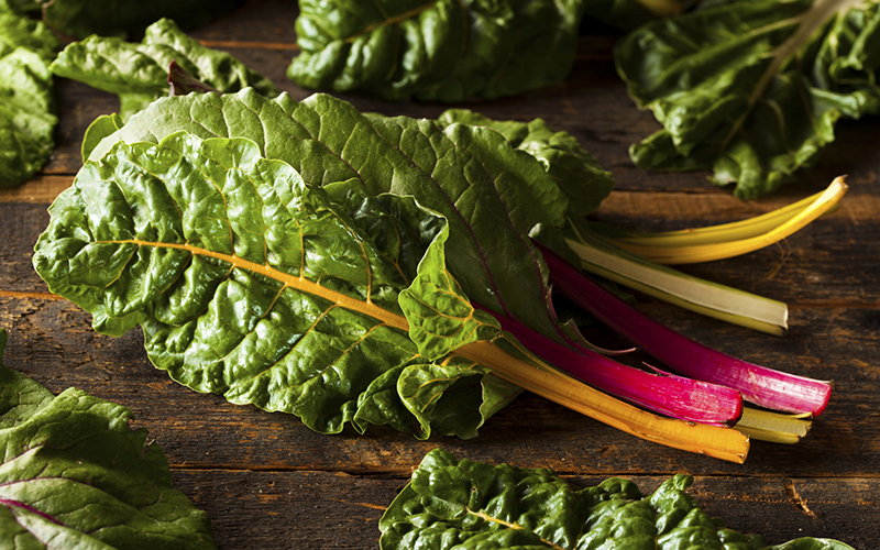 Swiss Chard - Foods with More Iron than Beef