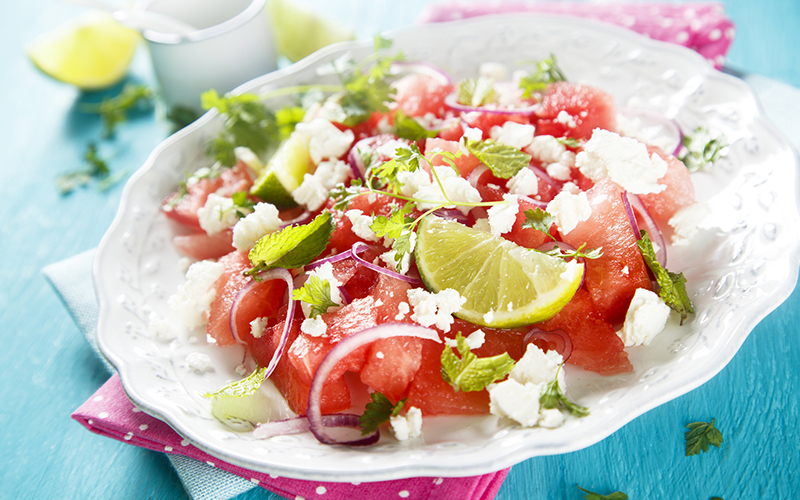 Easy and Refreshing Watermelon and Feta Salad | Huffington Post