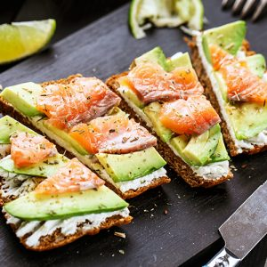 Smoked Salmon & Avocado Tartine