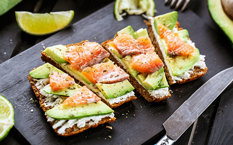 Salmon and Avocado Tartine